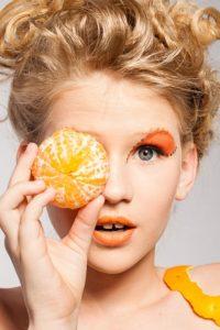 woman orange